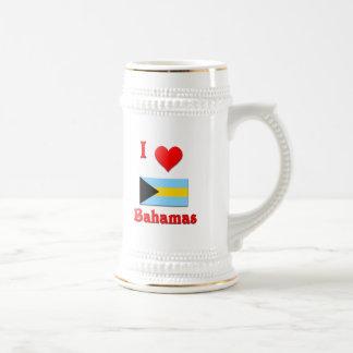I Love Bahamas Beer Stein