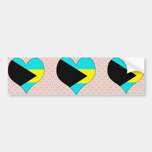 I Love Bahamas Car Bumper Sticker