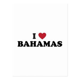 I Love Bahamas Postcard