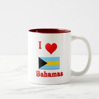 I Love Bahamas Two-Tone Coffee Mug