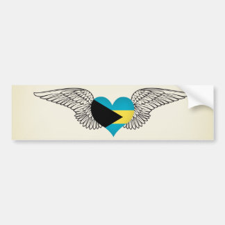 I Love Bahamas -wings Bumper Sticker