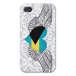 I Love Bahamas -wings Case For iPhone 4