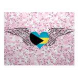 I Love Bahamas -wings Postcard