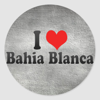I Love Bahia Blanca, Argentina Classic Round Sticker