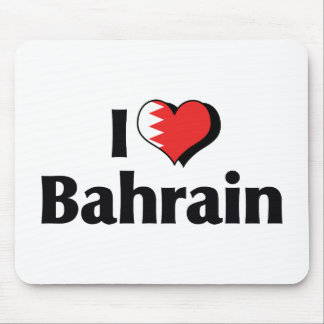 I Love Bahrain Flag Mouse Pad