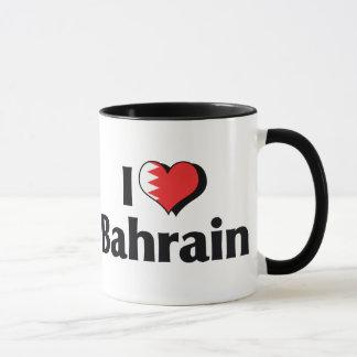 I Love Bahrain Flag Mug