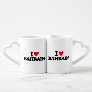I LOVE BAHRAIN LOVERS MUG SET