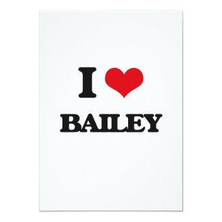 I Love Bailey 5x7 Paper Invitation Card