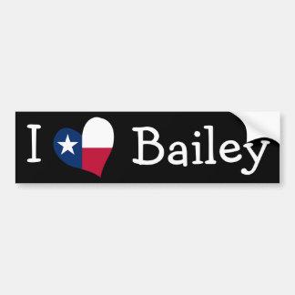 I Love Bailey Bumper Stickers