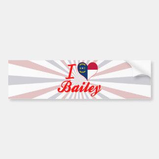 I Love Bailey, North Carolina Bumper Sticker