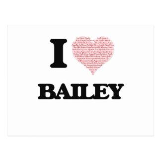 I Love Bailey Postcard