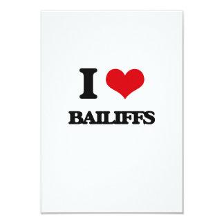 I Love Bailiffs Personalized Invites
