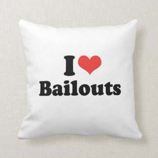 I LOVE BAILOUTS - .png Throw Pillow