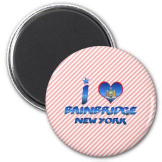 I love Bainbridge, New York Fridge Magnets