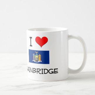 I Love Bainbridge New York Classic White Coffee Mug
