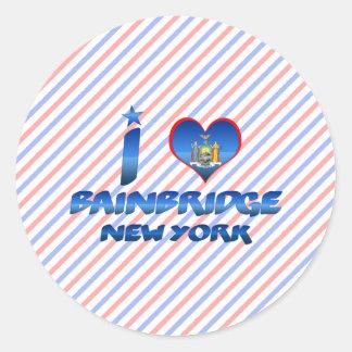 I love Bainbridge, New York Classic Round Sticker