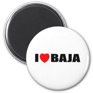 I Love Baja 2 Inch Round Magnet