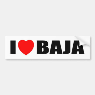 I Love Baja Bumper Sticker
