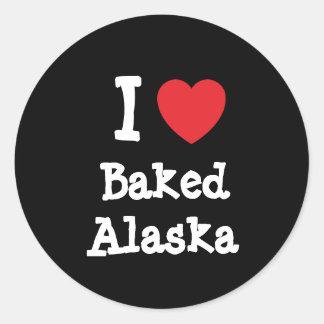 I love Baked Alaska heart T-Shirt Sticker