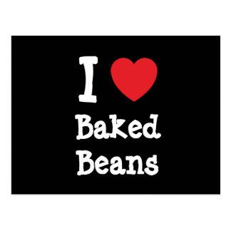I love Baked Beans heart T-Shirt Postcard