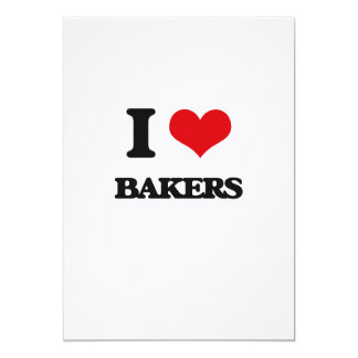 I Love Bakers 5x7 Paper Invitation Card