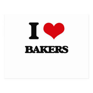 I Love Bakers Post Card