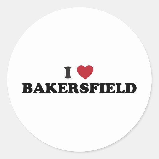 I Love Bakersfield California Classic Round Sticker