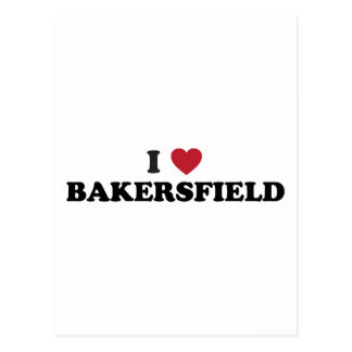 I Love Bakersfield California Postcard
