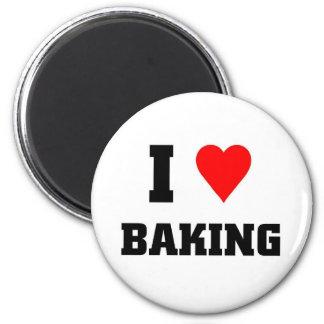 I love Baking 2 Inch Round Magnet