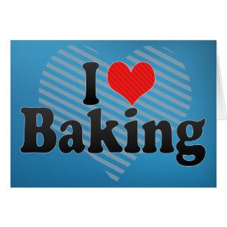 I Love Baking Card