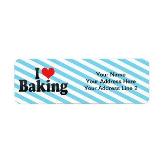I Love Baking Label