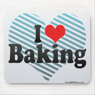 I Love Baking Mouse Pad