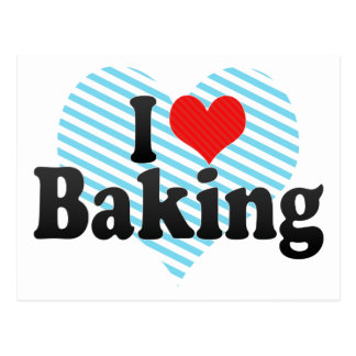 I Love Baking Postcard