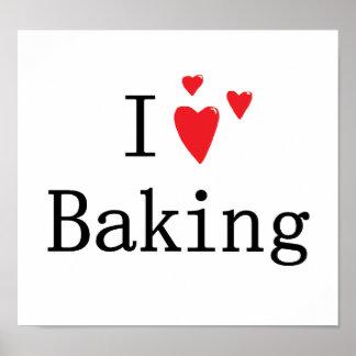 I Love Baking Poster