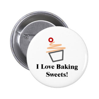 I Love Baking Sweets Button