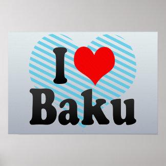 I Love Baku, Azerbaijan Poster