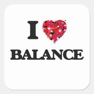 I Love Balance Square Sticker