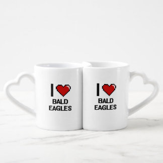 I love Bald Eagles Digital Design Couples' Coffee Mug Set