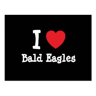 I love Bald Eagles heart custom personalized Postcard