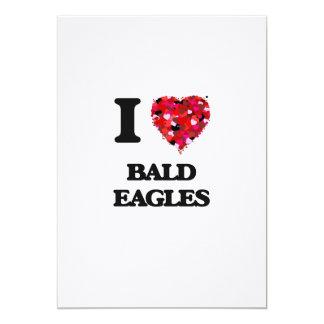 I Love Bald Eagles 5x7 Paper Invitation Card