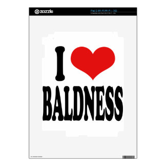 I Love Baldness Skins For iPad 2