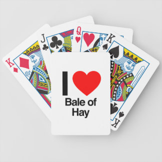 i love bale of hay bicycle poker cards