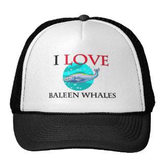 I Love Baleen Whales Hat