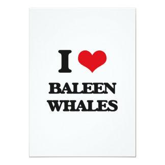I love Baleen Whales 5x7 Paper Invitation Card