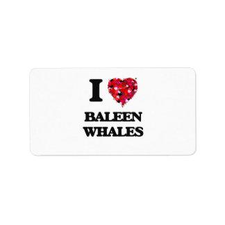 I love Baleen Whales Address Label