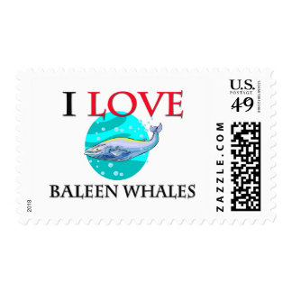I Love Baleen Whales Postage Stamps