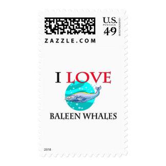I Love Baleen Whales Stamp