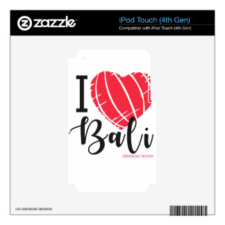 i love bali 2 iPod touch 4G decal