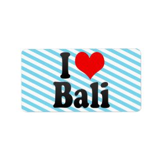 I Love Bali India Mera Pyar Bali India Personalized Address Labels