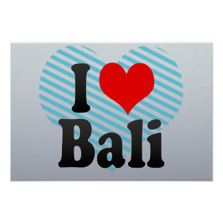 I Love Bali India Mera Pyar Bali India Poster